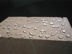Water repellent concrete after treatment with Solid Silane 80