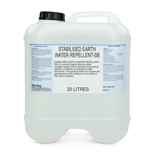 Stabilised Earth Water Repellent Penetrating Sealer Tech Dry