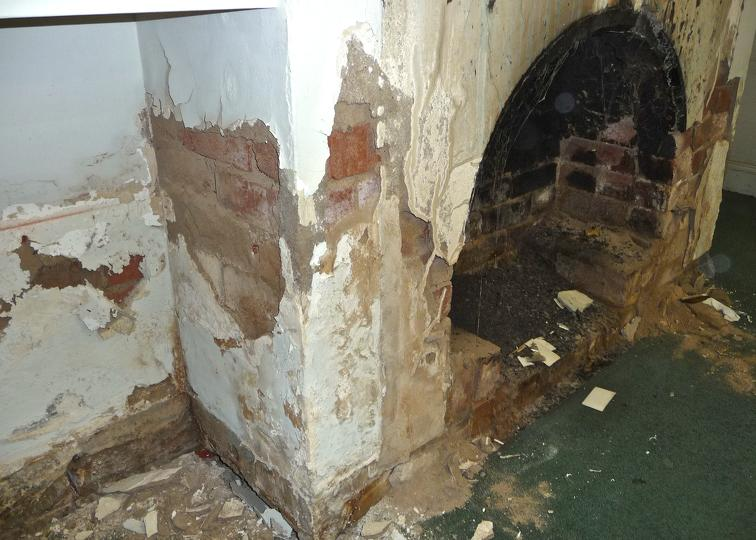 Damage from rising damp - Tech-Dry