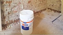 Tech-Dry DPC Cream injected into brick wall